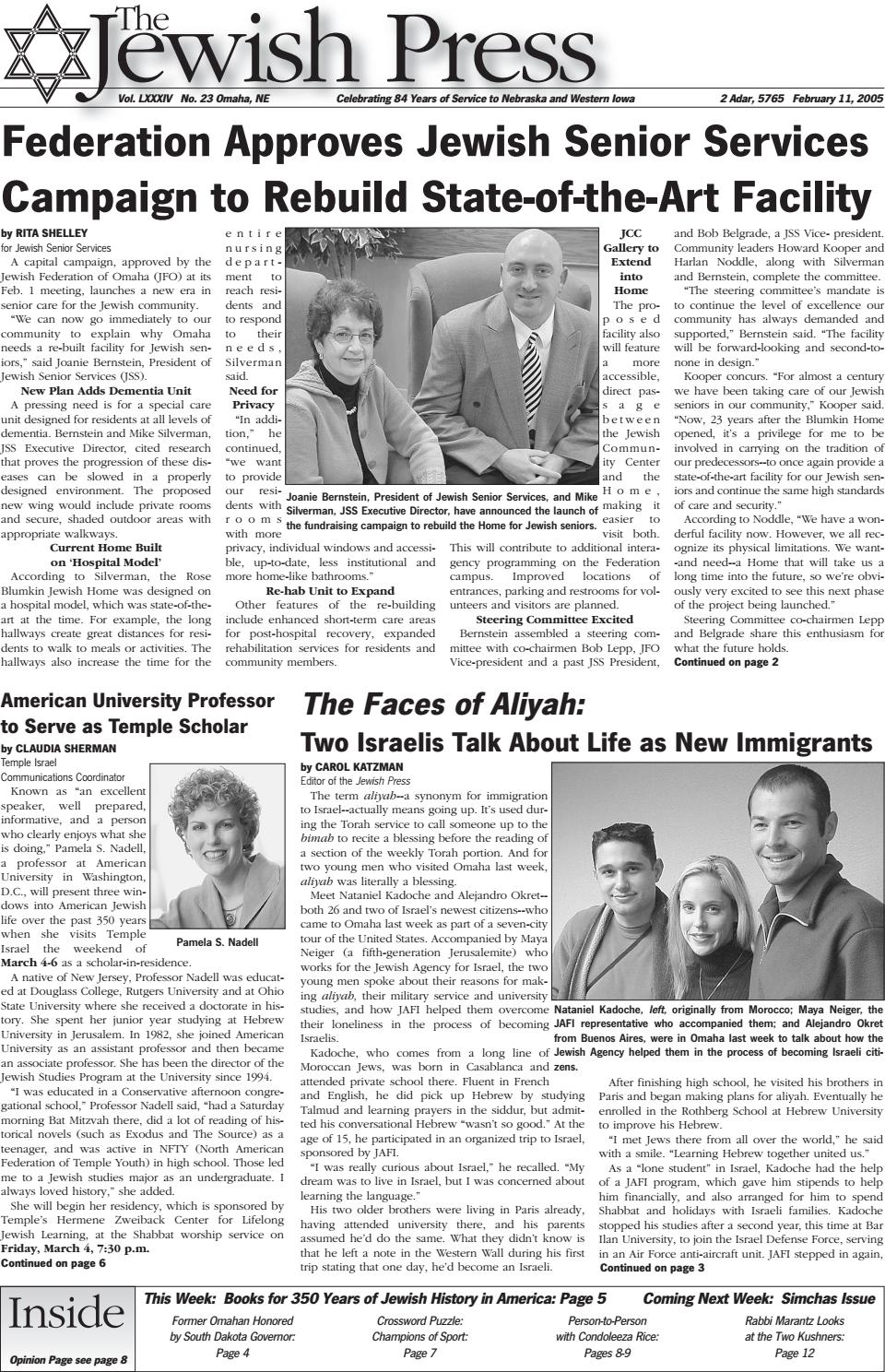 February 11, 2005 by Jewish Press - issuu