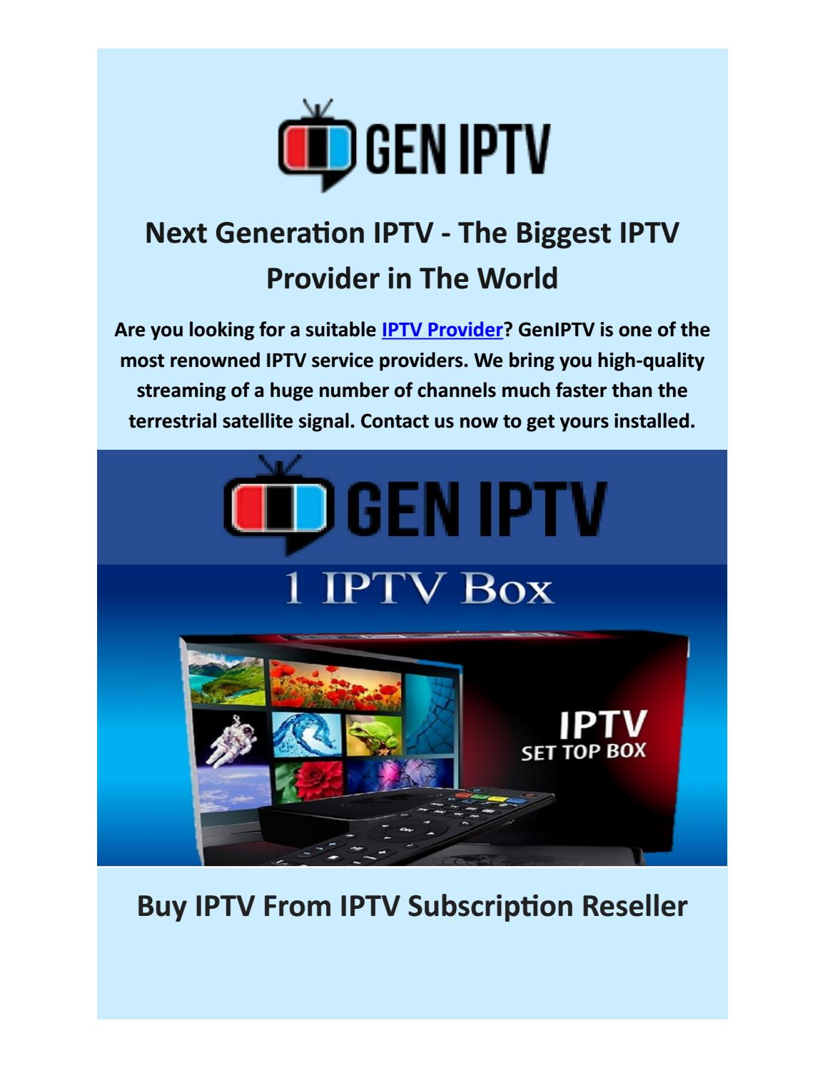 iptv subscription providers gen iptv by gen iptv issuu
