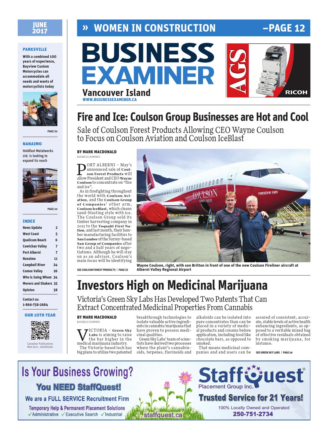 8745dc49ad4 Business Examiner Vancouver Island - June 2017 by Business Examiner Media  Group - issuu