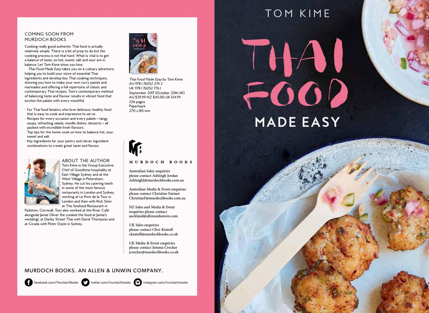 Thai food made easy september 2017 by murdoch books issuu forumfinder Image collections
