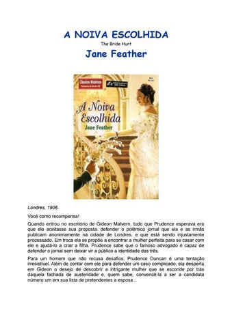 225e588d1 Ch 364 jane feather a noiva escolhida by Patrícia Martins Fonseca ...