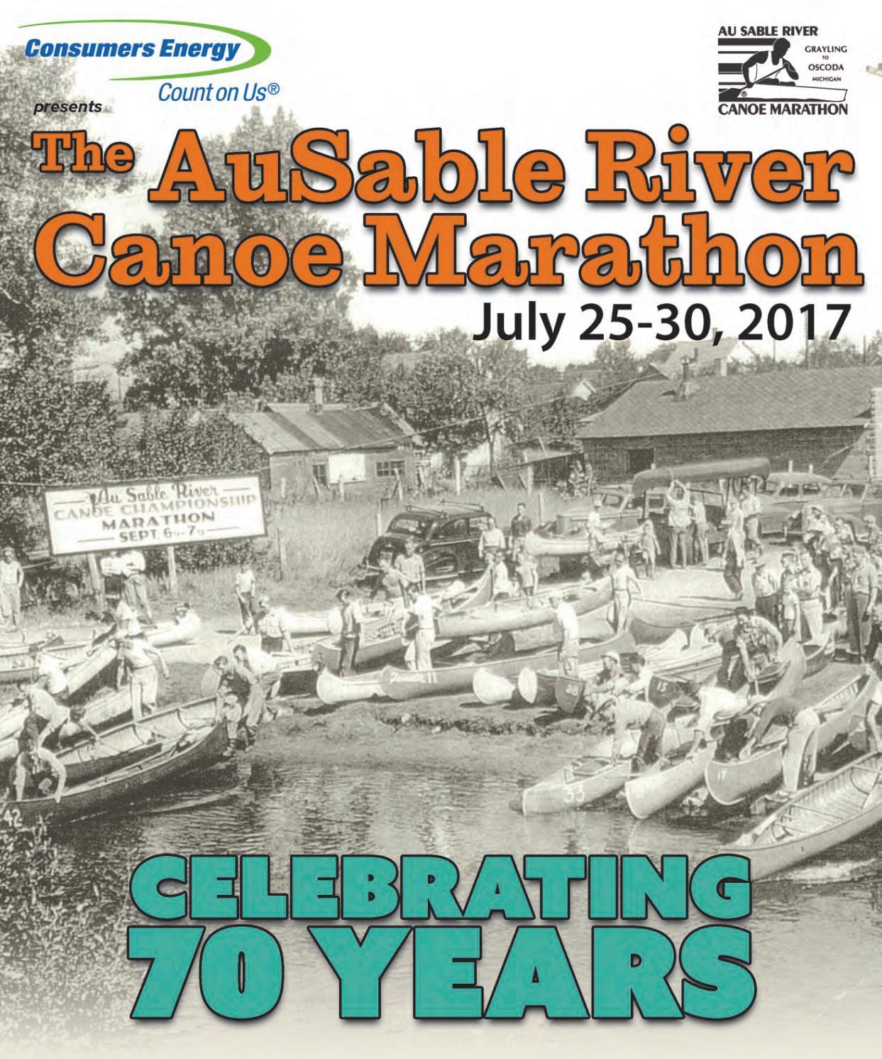 2017 AuSable River Canoe Marathon Program Book by AuSable