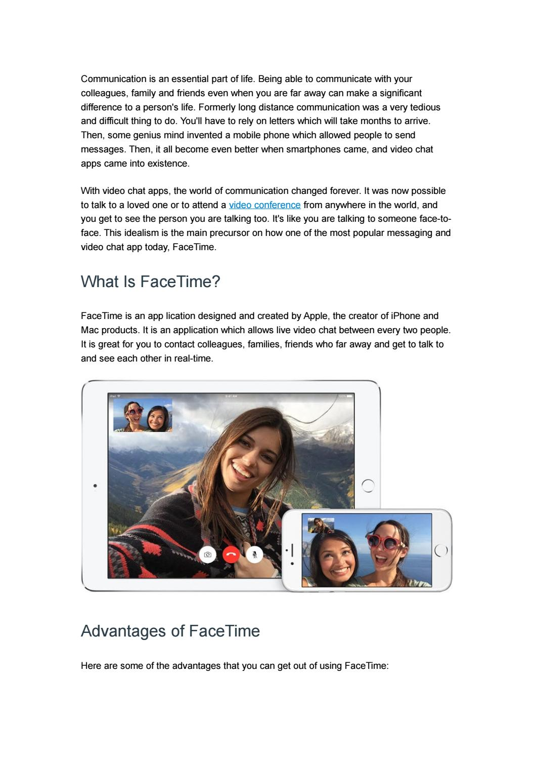 7 Android Alternatives to FaceTime by ezTalks - issuu