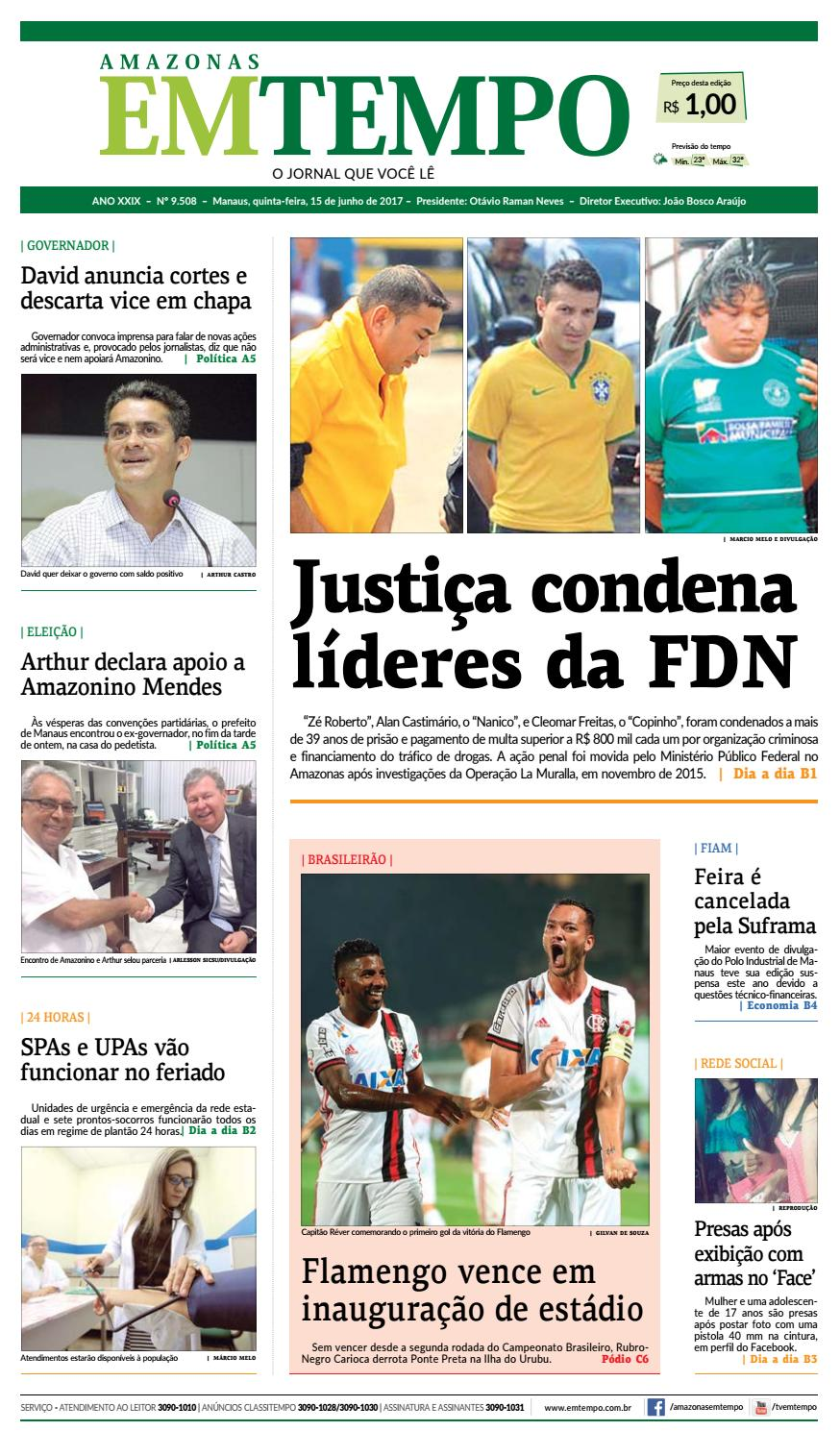 4db1a1abeb EM TEMPO - 15 de junho de 2017 by Amazonas Em Tempo - issuu