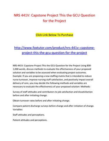 capstone project gcu