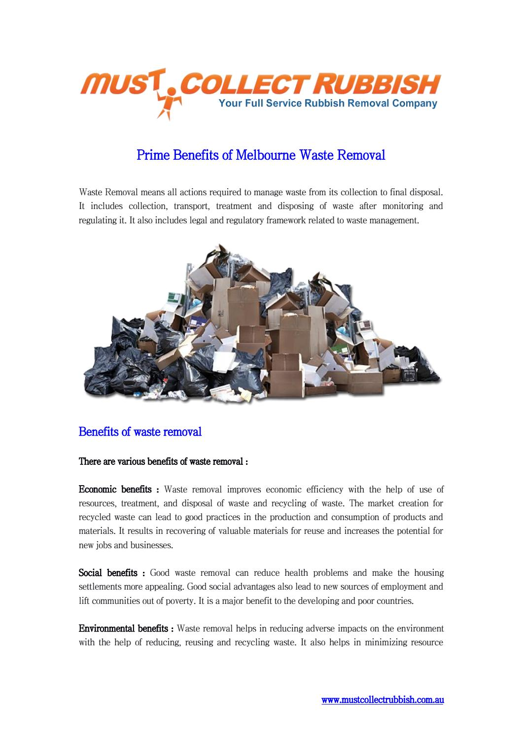 Prime benefits of melbourne waste removal by CollectRubbish