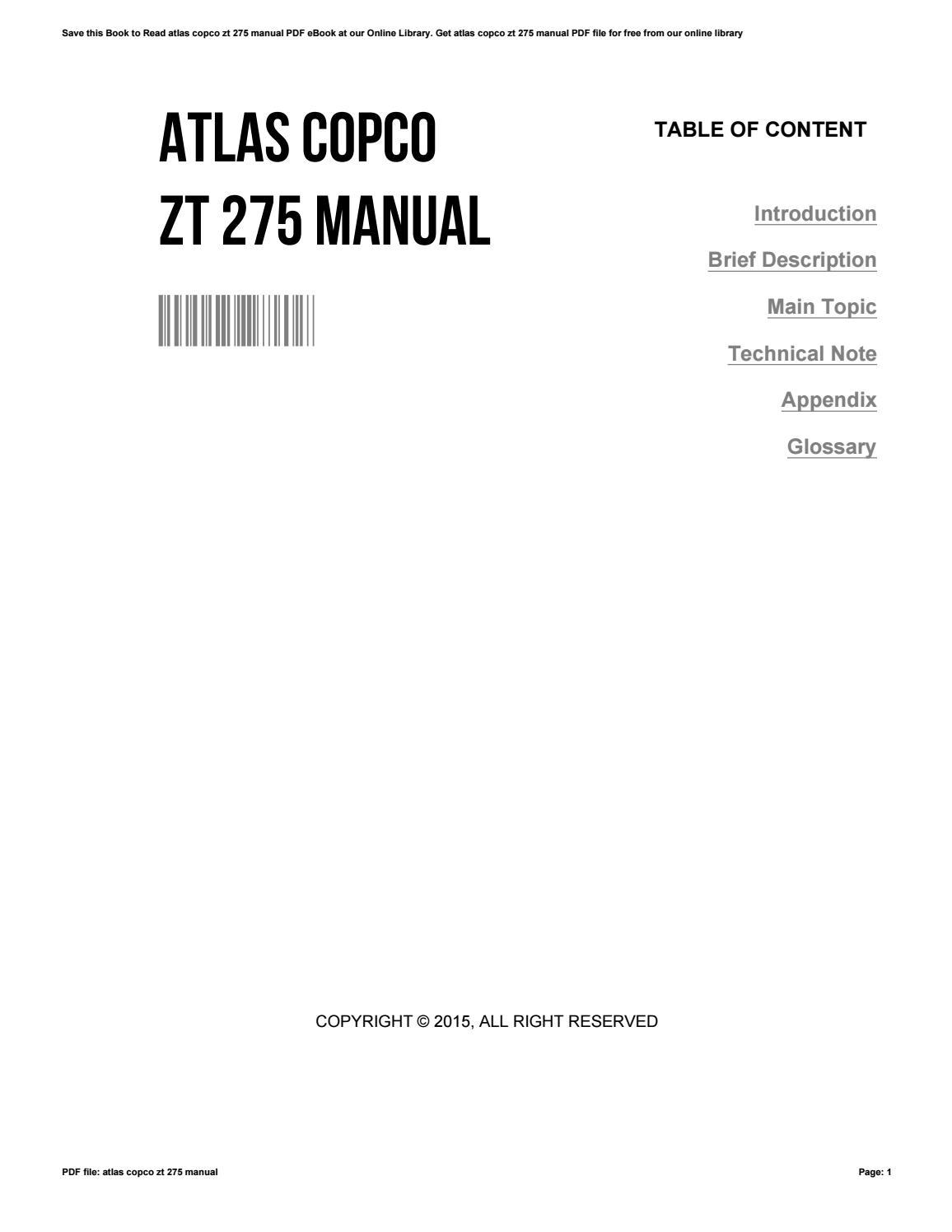 atlas copco zt 275 manual
