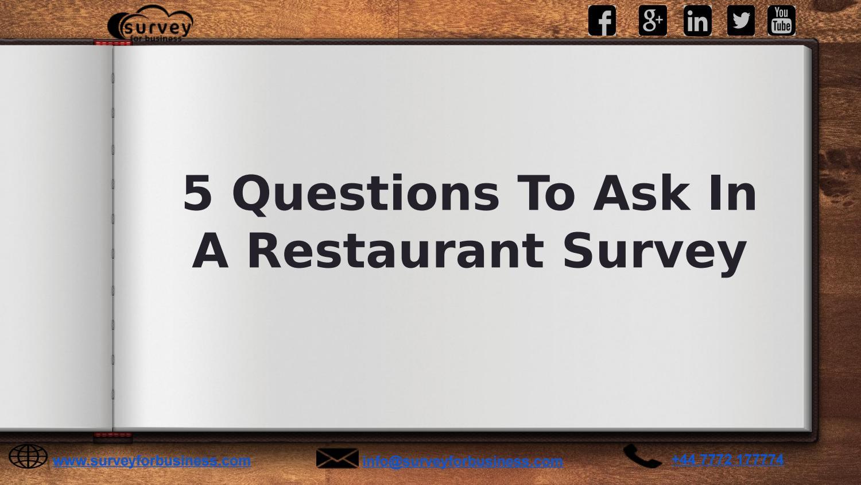 restaurant survey questions