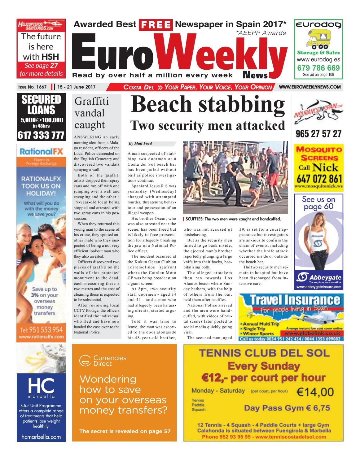 Euro weekly news costa del sol 15 21 june 2017 issue 1667 by euro weekly news costa del sol 15 21 june 2017 issue 1667 by euro weekly news media sa issuu fandeluxe Images