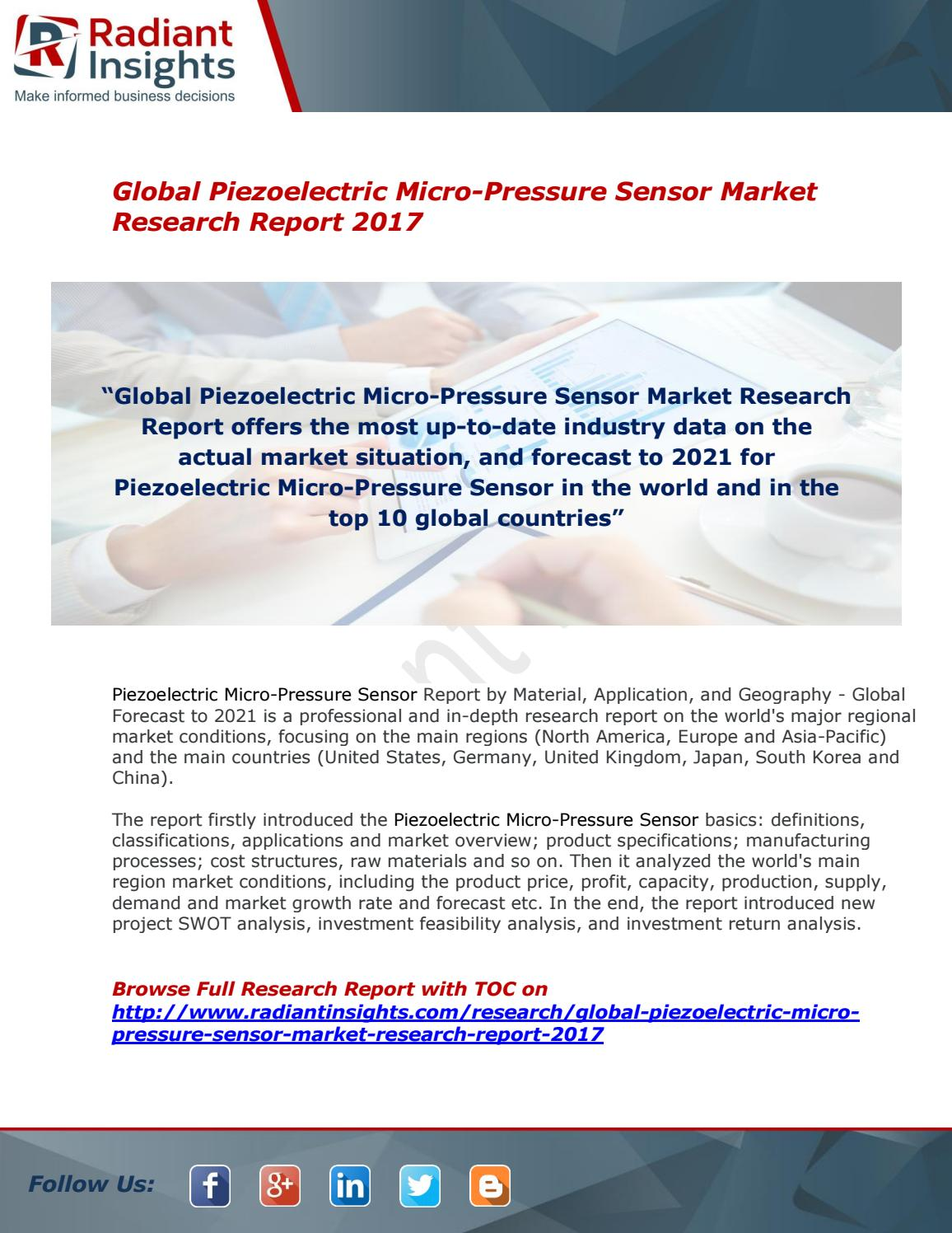 Piezoelectric Micro-Pressure Sensor Market Growth and