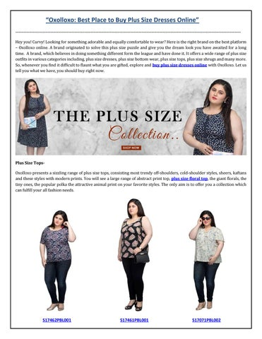 ec791fec7fe Oxolloxo  Best Place to Buy Plus Size Dresses Online by Oxolloxo - issuu