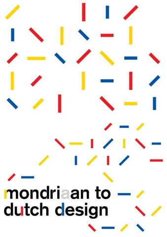 Mondrian to dutch design term 2 by NBTC Holland Marketing - issuu 02790ef4bbc
