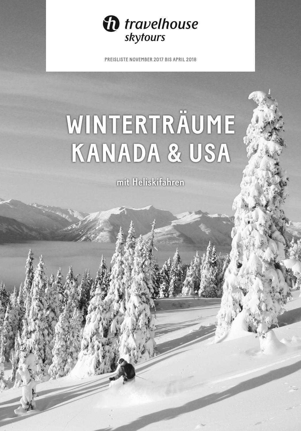 Preisliste Travelhouse Winterträume Kanada & USA – November 2017 bis ...