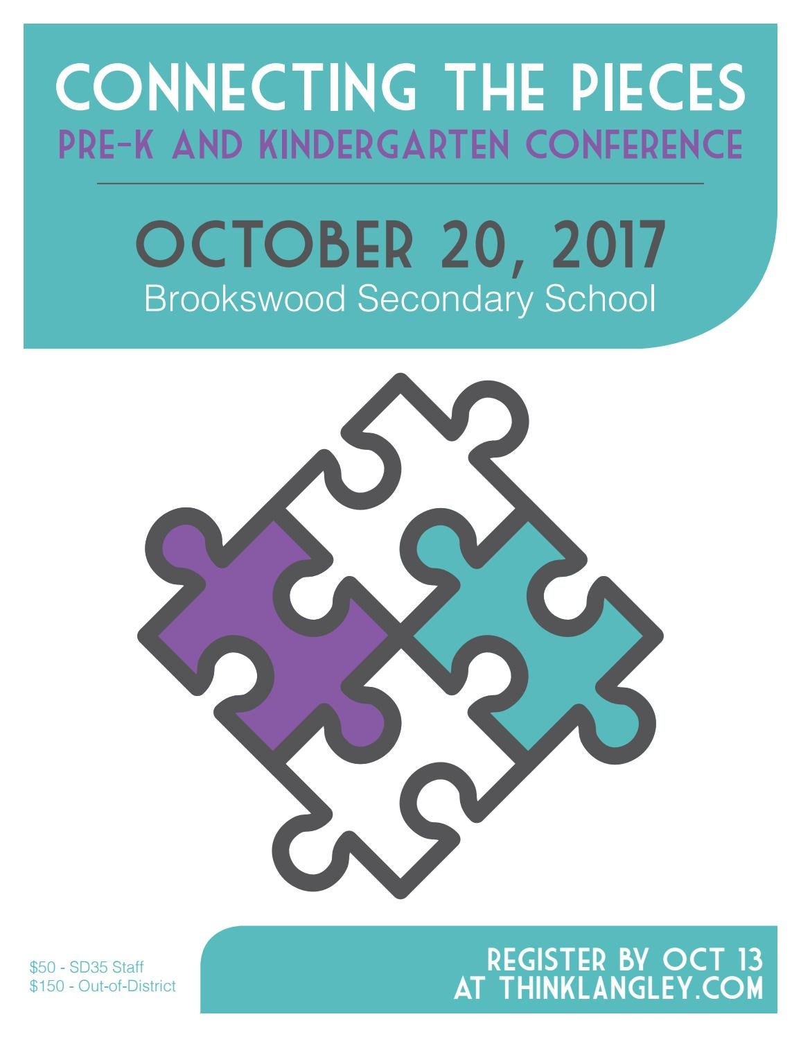 Connecting the Pieces: Pre-K and Kindergarten Conference 2017 by ...