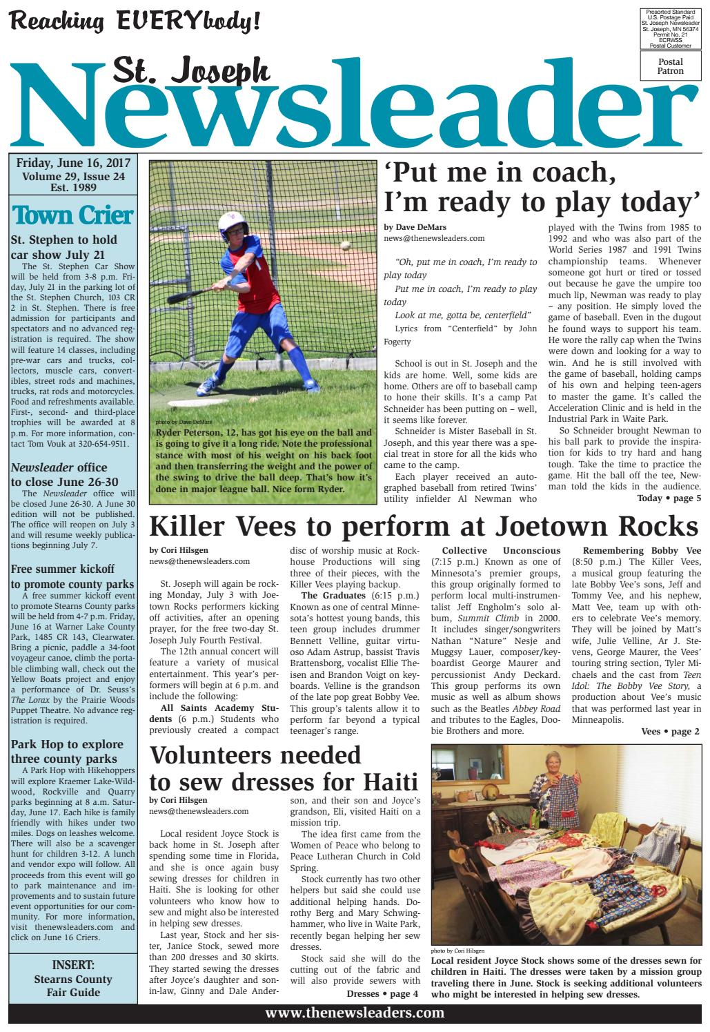 St. Joseph Newsleader - June 16, 2017 by The Newsleaders - issuu