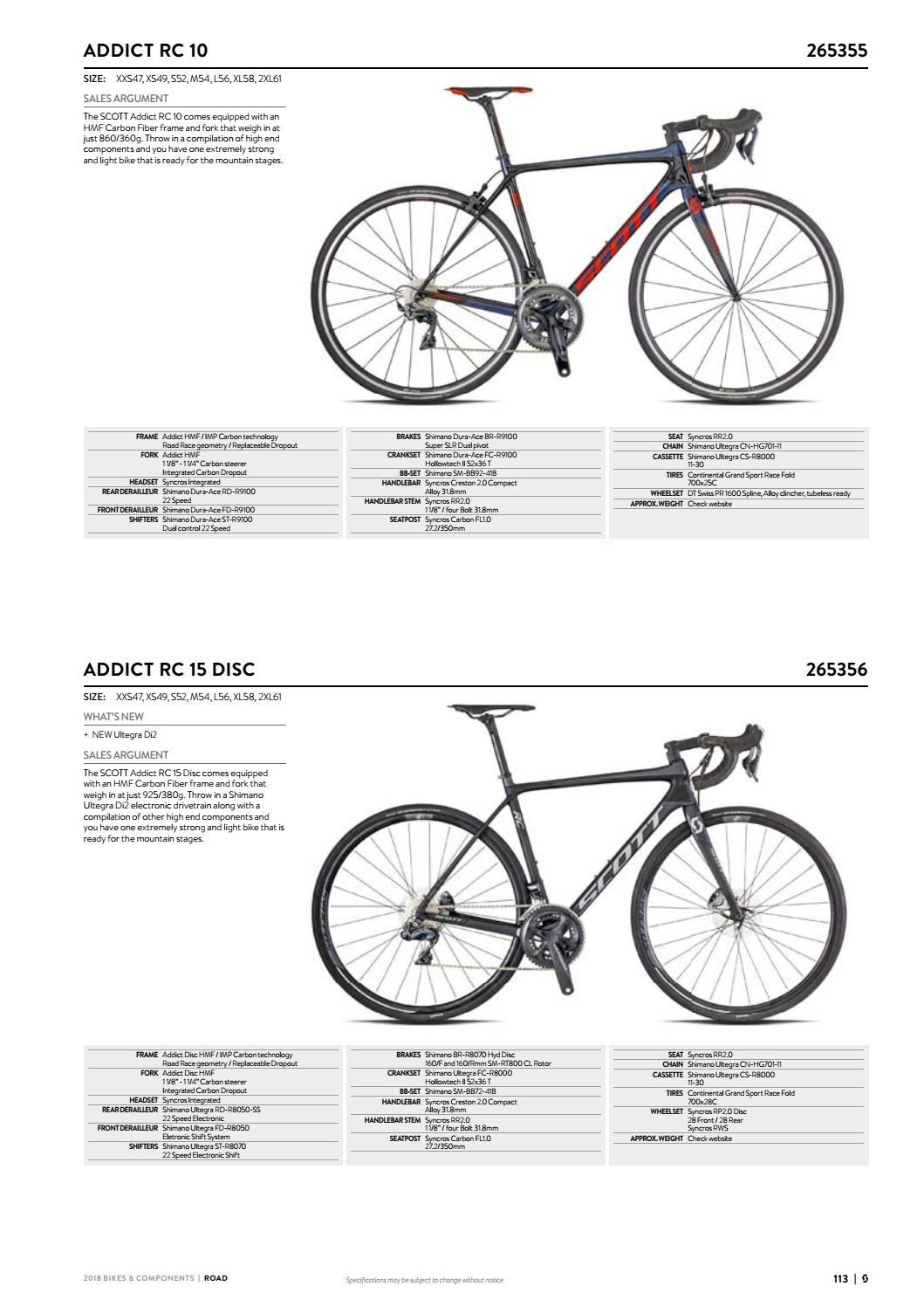 7f2895faae1 Scott Sports 2018 Bikes & Components Workbook by Mica Sport Canada - issuu