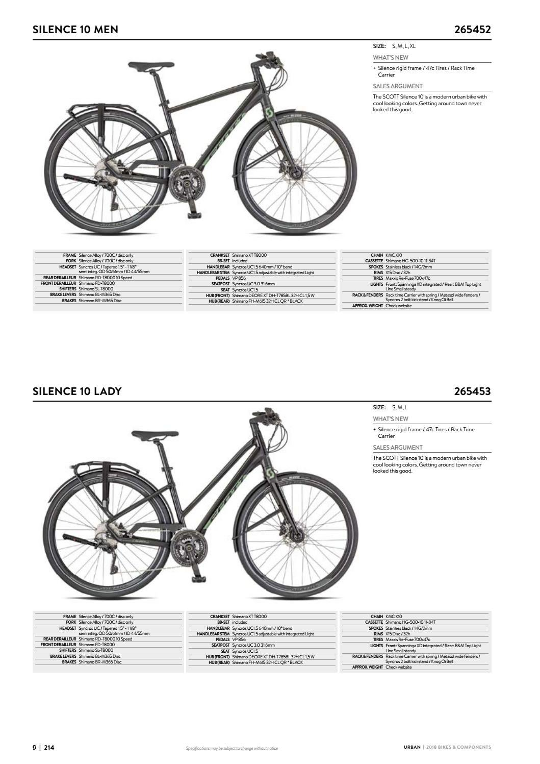 Scott Sports 2018 Bikes & Components Workbook by Mica Sport