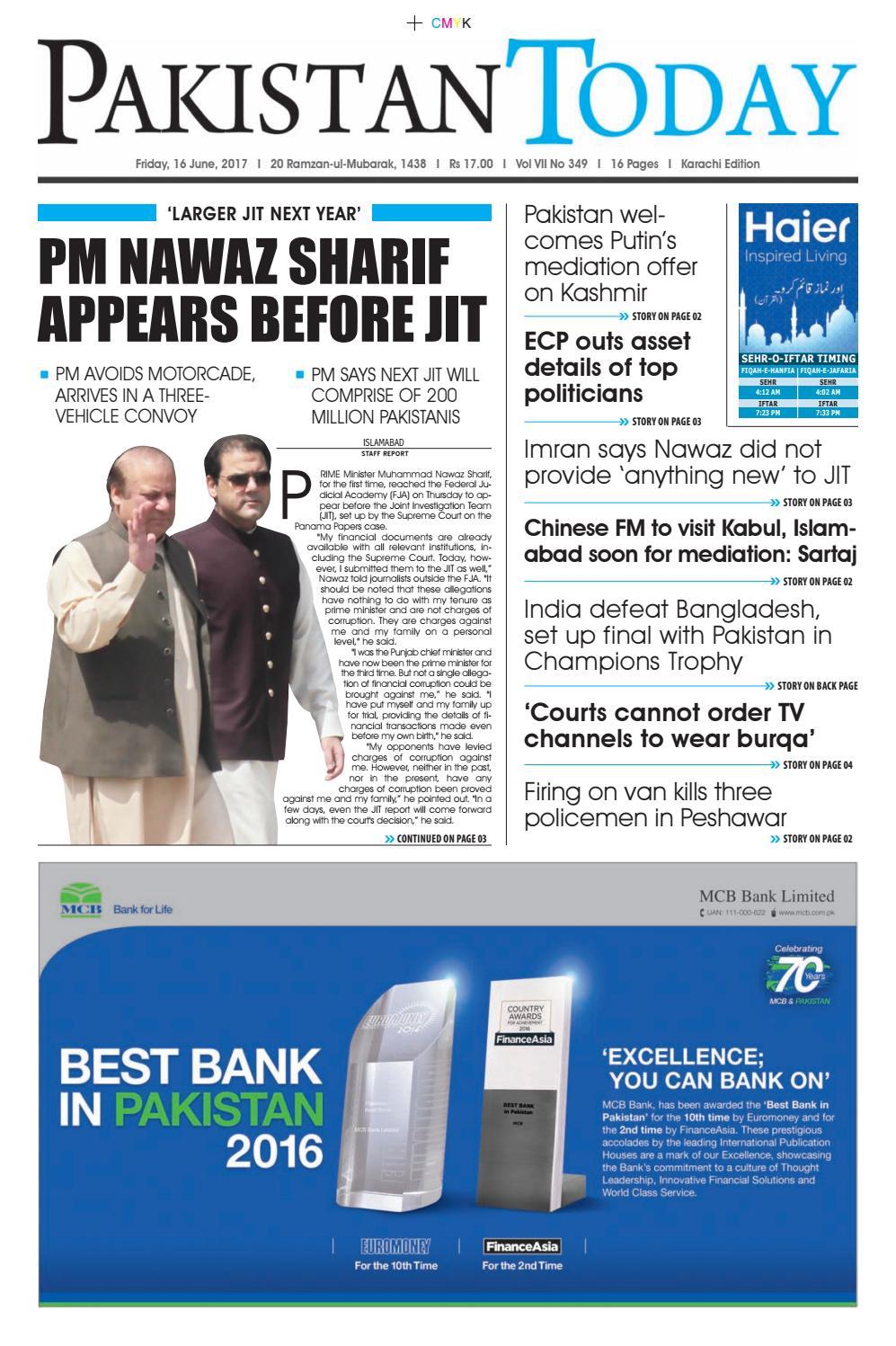 E paper pdf (16 06 2017) (khi) by Pakistan Today - issuu