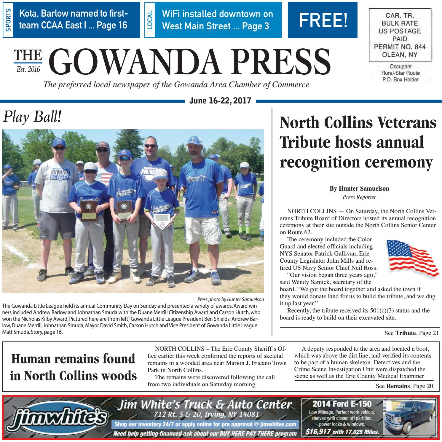 Gowanda Press June 16 2017 Edition By Bradford Publishing