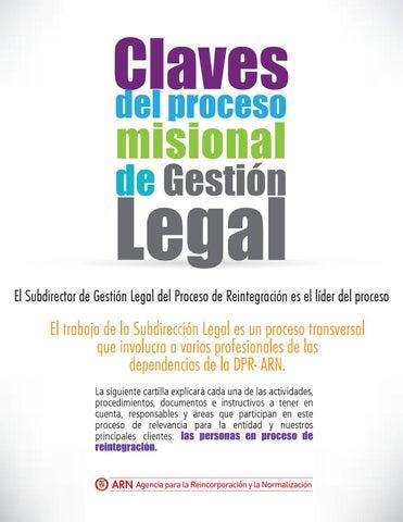 Claves del proceso misional de gestión legal by ARN Colombia - issuu