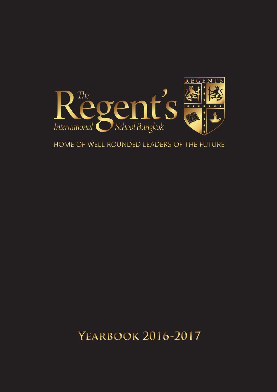 Yearbook 2016-2017 by The Regent's International School