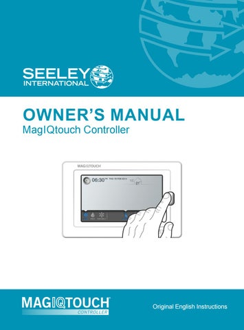 Magiqtouch Controller Owner S Manual By Seeley