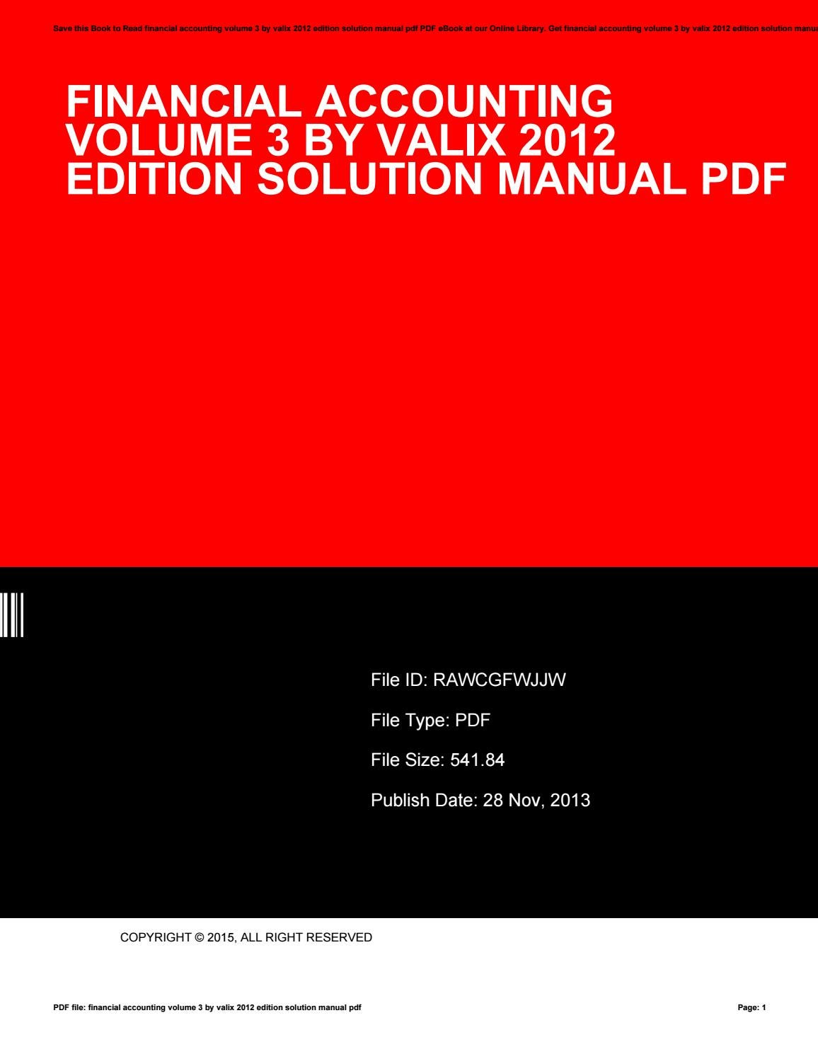 Financial accounting volume 3 by valix 2012 edition solution manual pdf by  JohnBechtol3696 - issuu