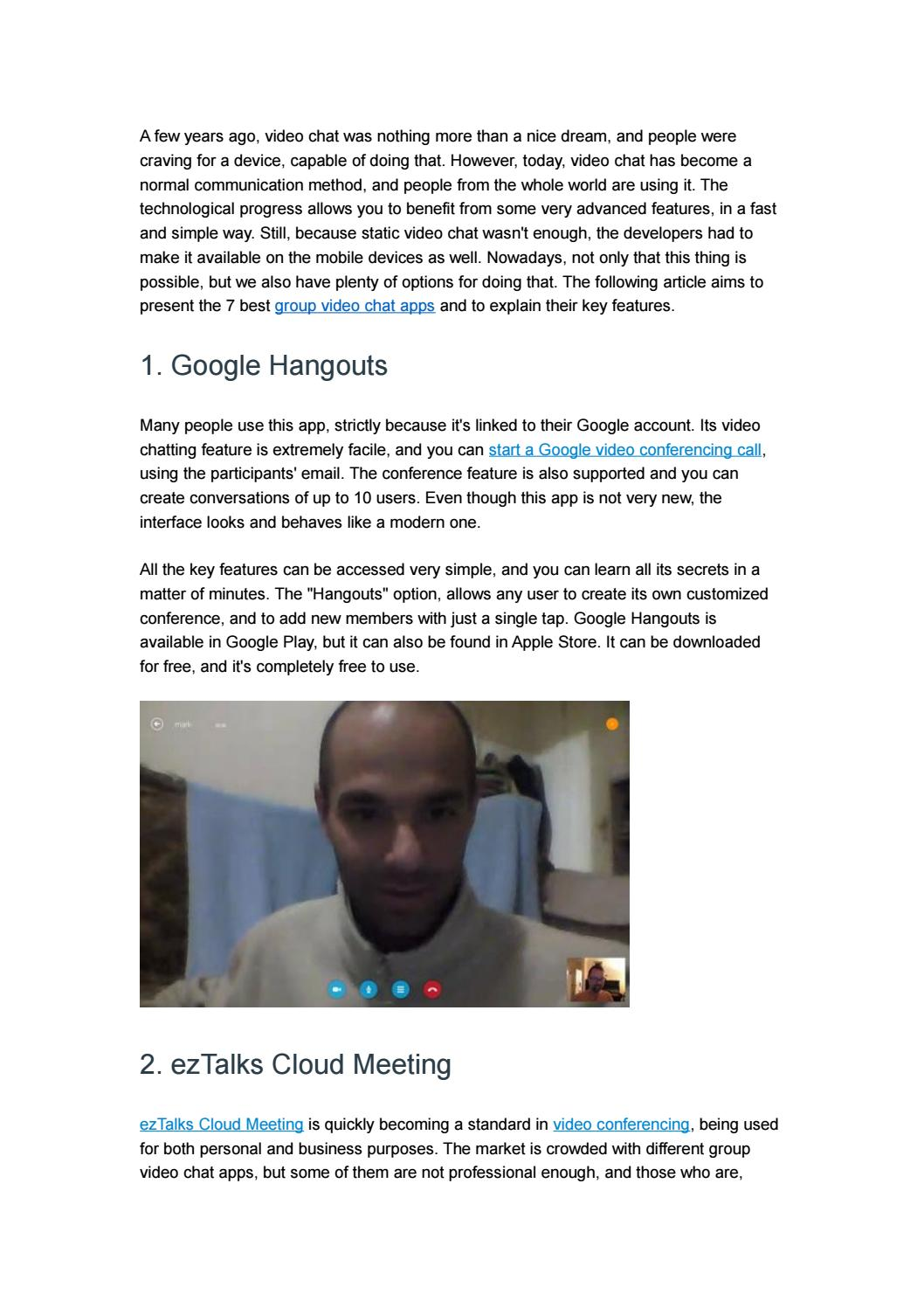 7 Best Group Video Chat Apps by ezTalks - issuu