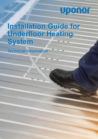 Underfloor heating install guide by uponor uk issuu installation guide for underfloor heating system technical information asfbconference2016 Choice Image
