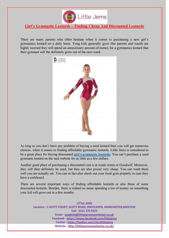 Girl's gymnastic leotards – finding cheap and discounted leotards