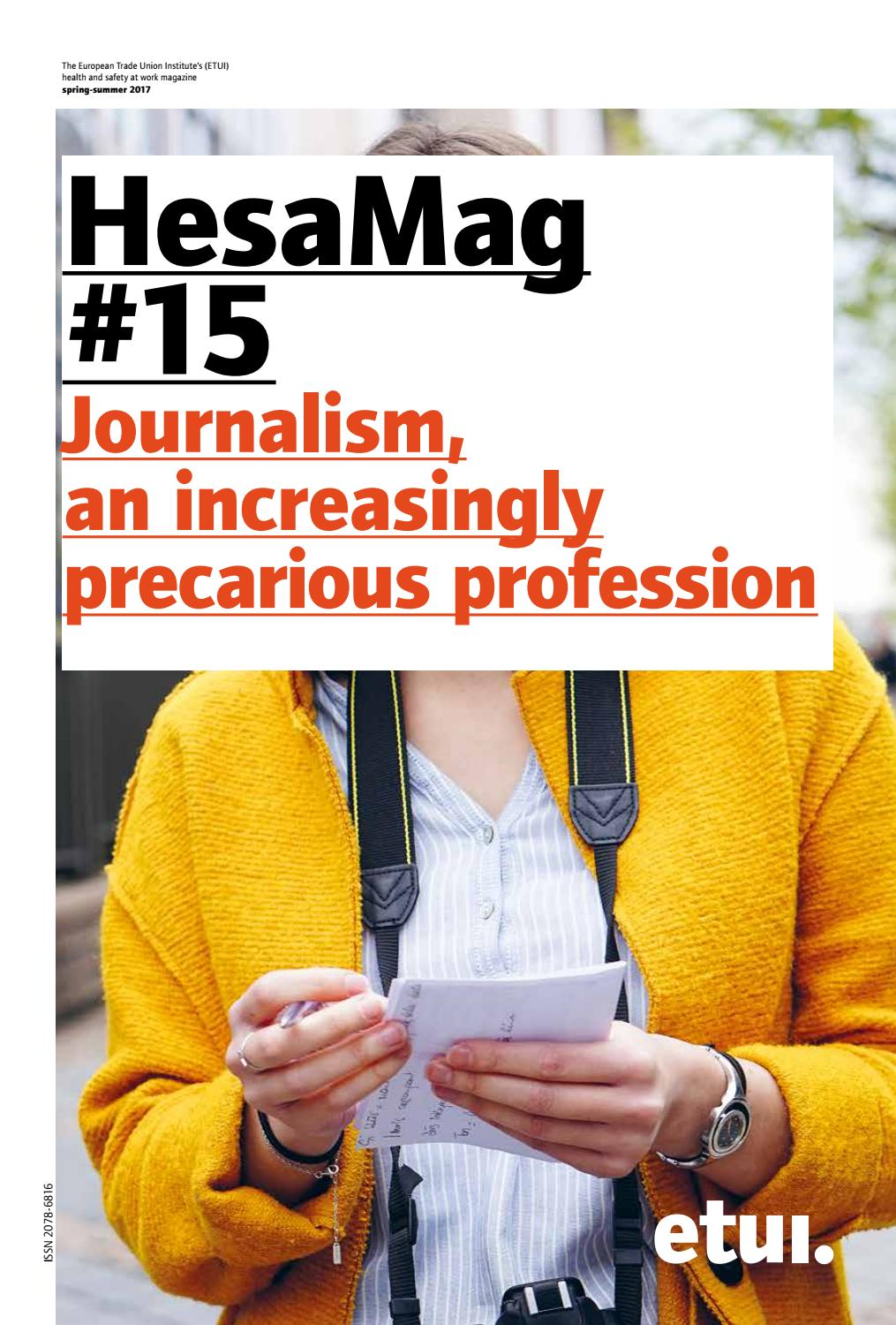 Hesamag 15: Journalism, an increasingly precarious profession