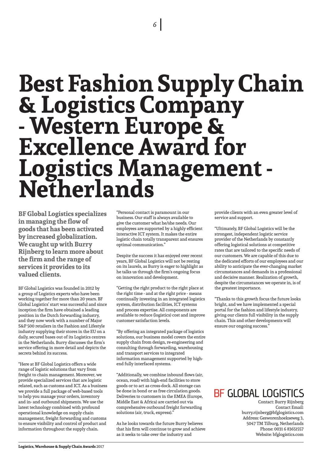 Transport News Logistics, Warehouse & Supply Chain Awards