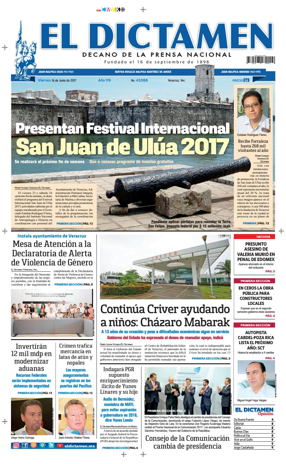 El Dictamen 16 de Junio 2017 by El Dictamen - issuu
