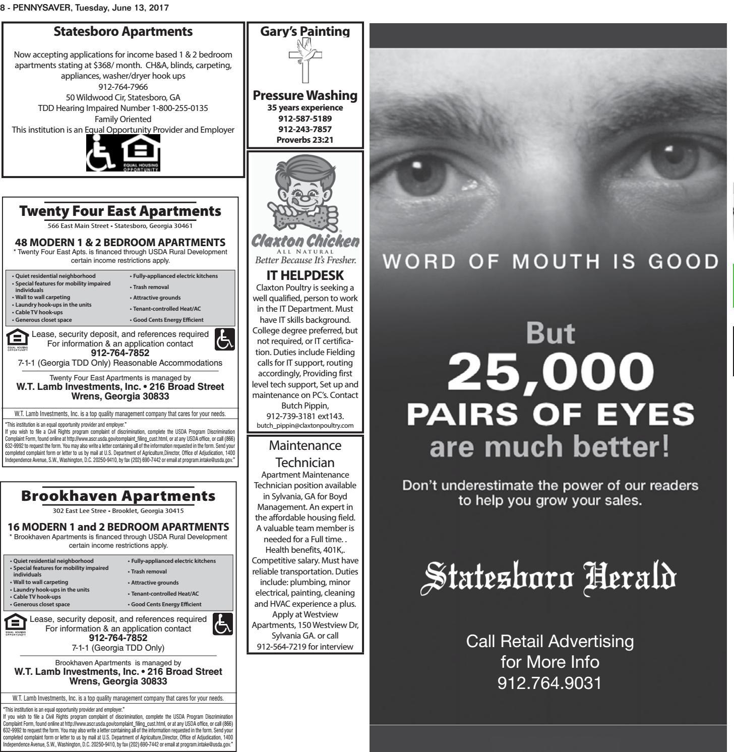 Bulloch PennySaver by Statesboro Herald - issuu