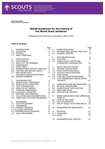 WOSM WSJ Guidelines EN 2016 by World Organization of the