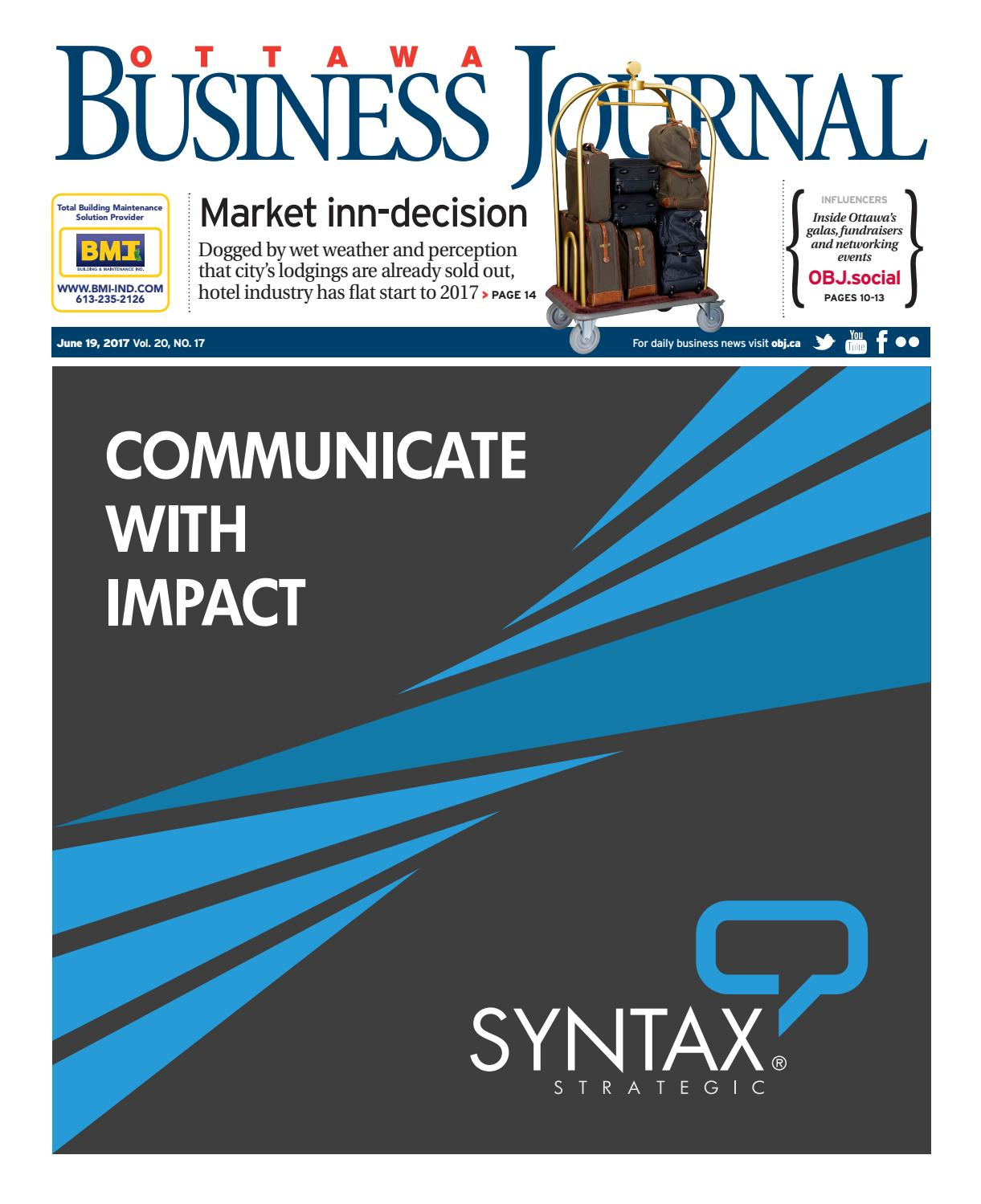 Ottawa Business Journal June 19, 2017 by Great River Media inc ...