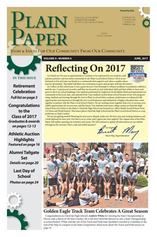 June 2017 Plain Paper By Plain Local Schools Issuu