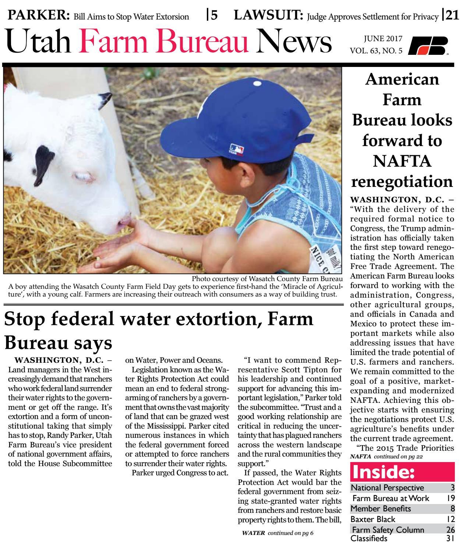 f3bc584596f Utah Farm Bureau News - June 2017 by Utah Farm Bureau Federation - issuu