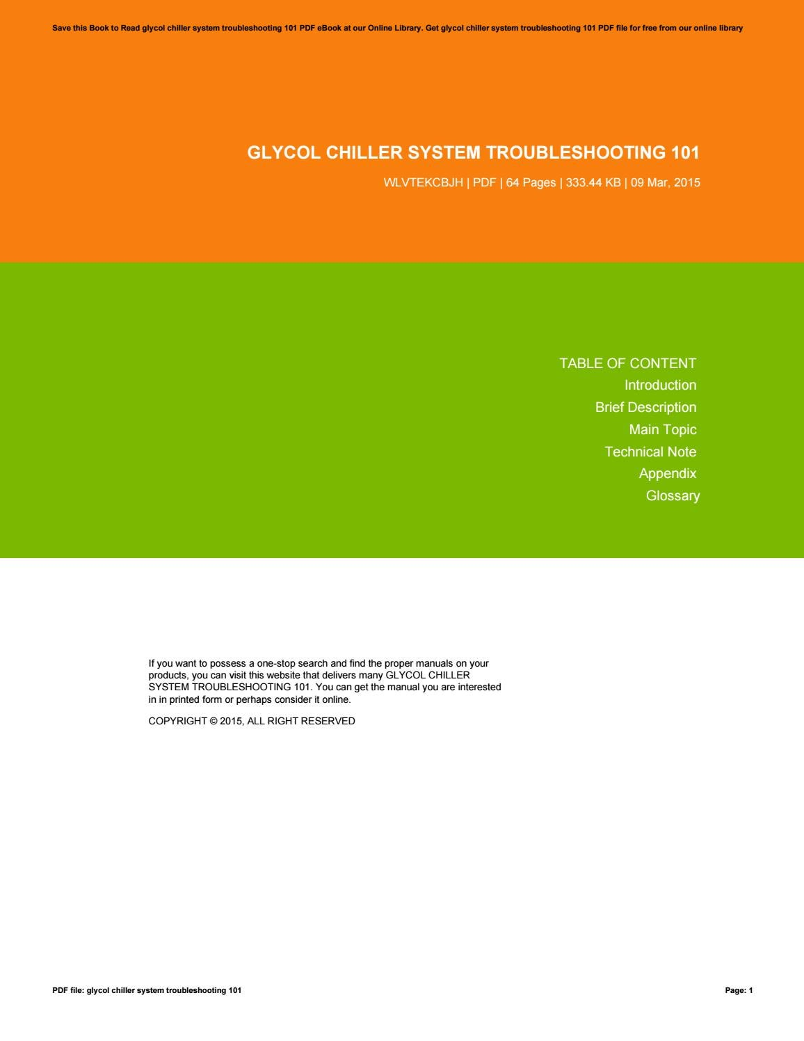 Glycol chiller system troubleshooting 101 by emilydoyle3124 issuu sciox Image collections
