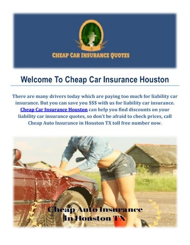 Cheap Insurance Quote >> Get A Cheap Auto Insurance Quote In Houston By Cheap Car