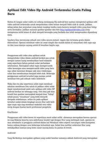 Aplikasi Edit Video Hp Android Terkemuka Gratis Paling Baru By