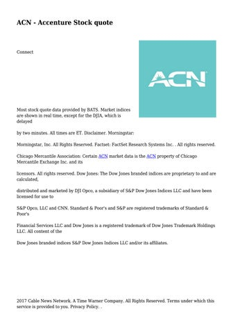 Acn Quote Fascinating ACN Accenture Stock Quote By Spectacularknol48 Issuu