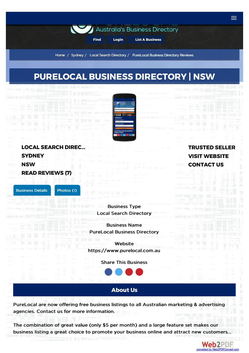Australia's Business Directory (PureLocal) by Paul Williams