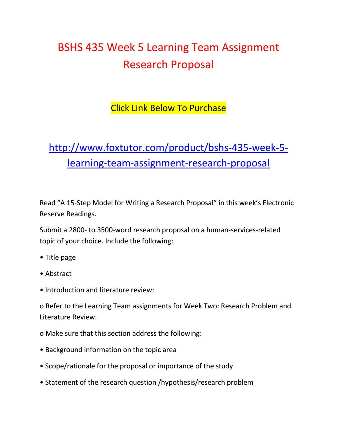 research proposal bshs 435