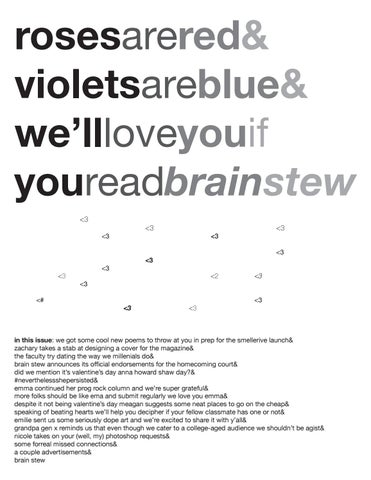 Brain Stew 16\' / \'17 - Issue 10 by Pierre Laclede Honors College - issuu