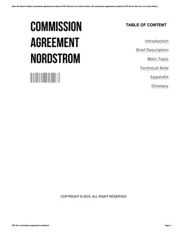 Commission Agreement Nordstrom By Lloydbeam  Issuu