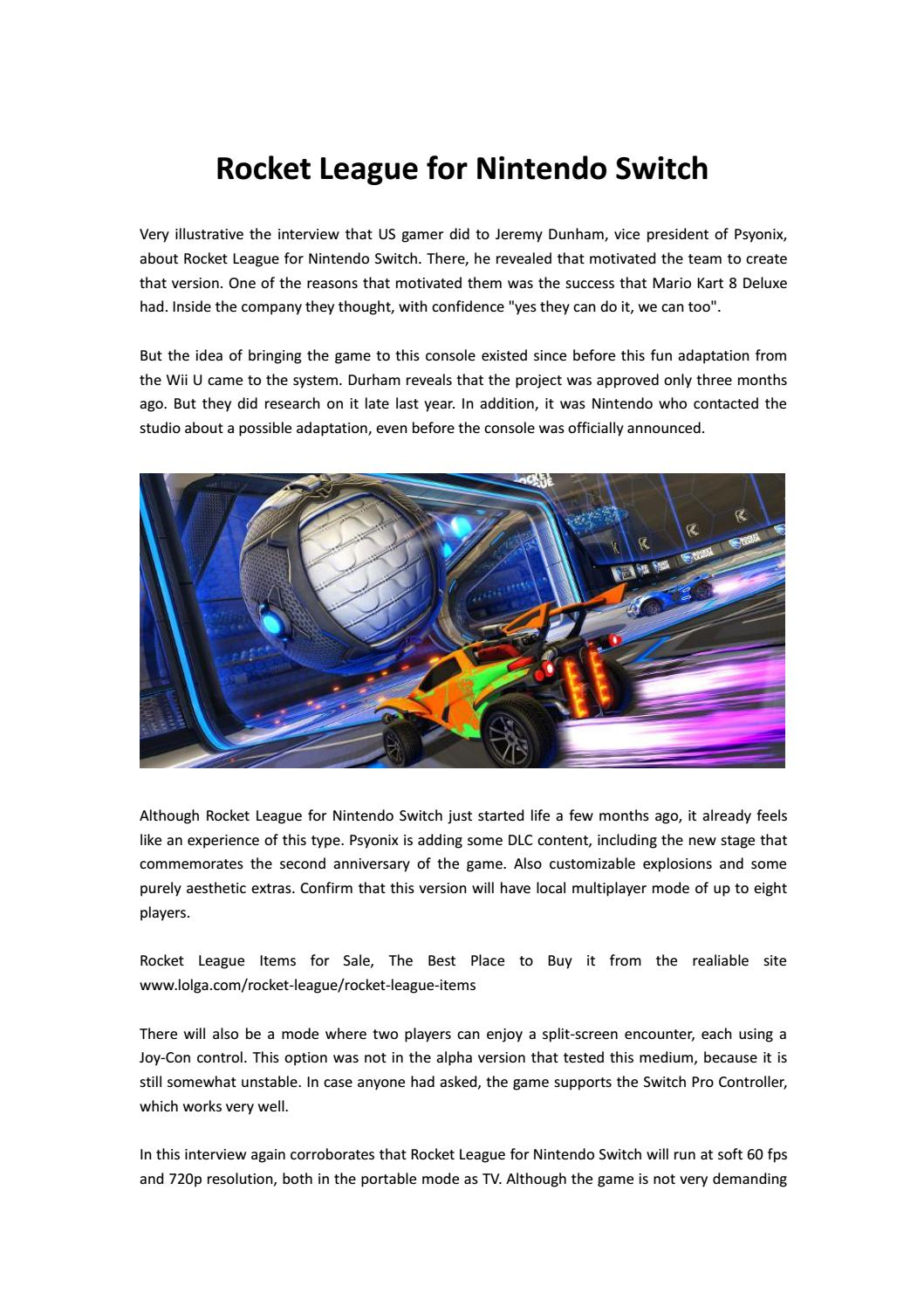 Rocket league for nintendo switch by fifacoinslol - issuu