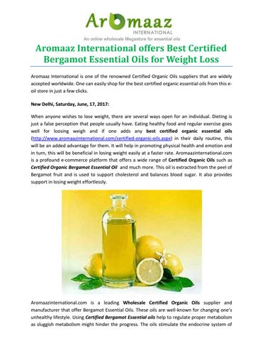 Aromaaz International Offers Best Certified Bergamot Essential Oils