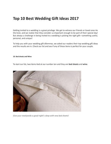 Top 10 Best Wedding Gift Ideas 2017 By Shoppersguide Issuu