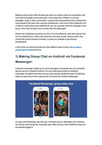How to Make A Group Chat on Android with Three Ways by ezTalks - issuu
